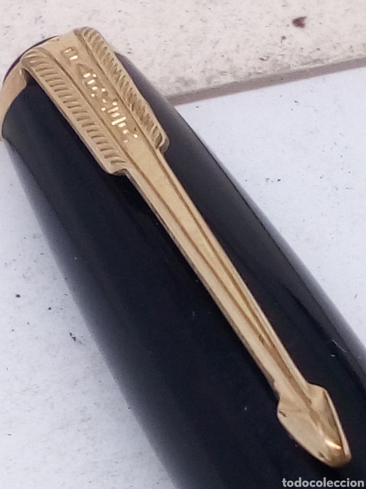 Old Fountain Pens: Pluma Vacumatic 52 carga de émbolo trasero plumin oro 14kl - Foto 4 - 142676690