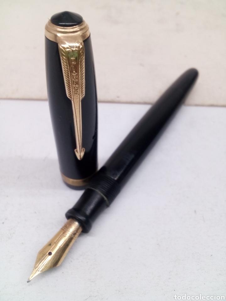Old Fountain Pens: Pluma Vacumatic 52 carga de émbolo trasero plumin oro 14kl - Foto 7 - 142676690