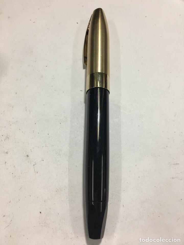 PLUMA SHEAFFER IMPERIAL CAPUCHÓN CHAPADO ORO PLUMIN 18KL F NUEVA MODELO MÁS GRANDE CARGA PISTÓN (Fountain Pens, Ballpoint Pens and Pen Nibs - Fountain Pens)