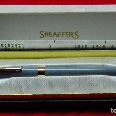 Plumas estilográficas antiguas: SHEAFFER ADMIRAL GRIS SNORKEL + BOX AUSTRALIA. Lote 143395878