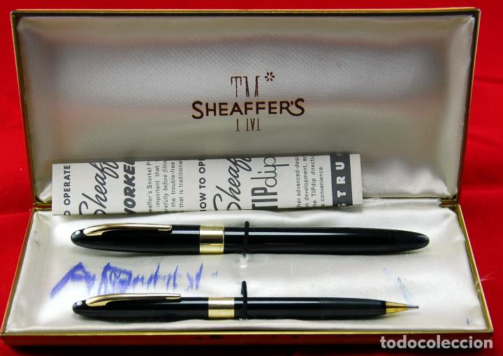 Plumas estilográficas antiguas: SET SHEAFFER,s VALIANT SNORKEL+ BOX Made in USA -Plumín Triumph Oro 14 Kt - Foto 1 - 143396170