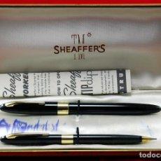 Plumas estilográficas antiguas: SET SHEAFFER,S VALIANT SNORKEL+ BOX MADE IN USA -PLUMÍN TRIUMPH ORO 14 KT. Lote 143396170