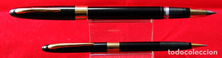Plumas estilográficas antiguas: SET SHEAFFER,s VALIANT SNORKEL+ BOX Made in USA -Plumín Triumph Oro 14 Kt - Foto 5 - 143396170