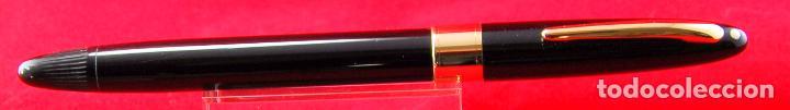 Plumas estilográficas antiguas: SHEAFFER,S VALIANT Plumín Triumph Plata/Paladio - Made in USA Negra Gold Trim - Foto 2 - 143396722