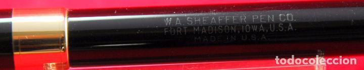 Plumas estilográficas antiguas: SHEAFFER,S VALIANT Plumín Triumph Plata/Paladio - Made in USA Negra Gold Trim - Foto 3 - 143396722
