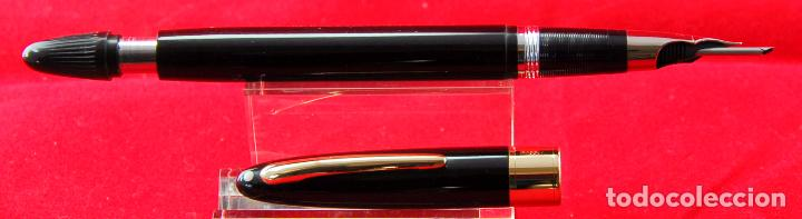 Plumas estilográficas antiguas: SHEAFFER,S VALIANT Plumín Triumph Plata/Paladio - Made in USA Negra Gold Trim - Foto 7 - 143396722