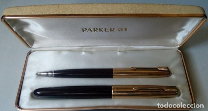 Plumas estilográficas antiguas: Parker 51 pluma y lapiz - Foto 2 - 143841026