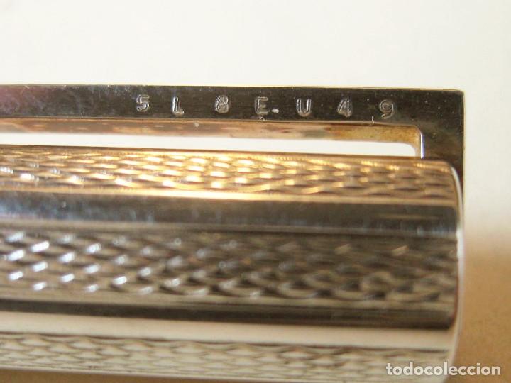 Plumas estilográficas antiguas: PLUMA ESTILOGRÁFICA DUPONT DE PLATA - PLUMIN 18CT 750 - MADE IN FRANCE - NUMERADA - Foto 11 - 143969826