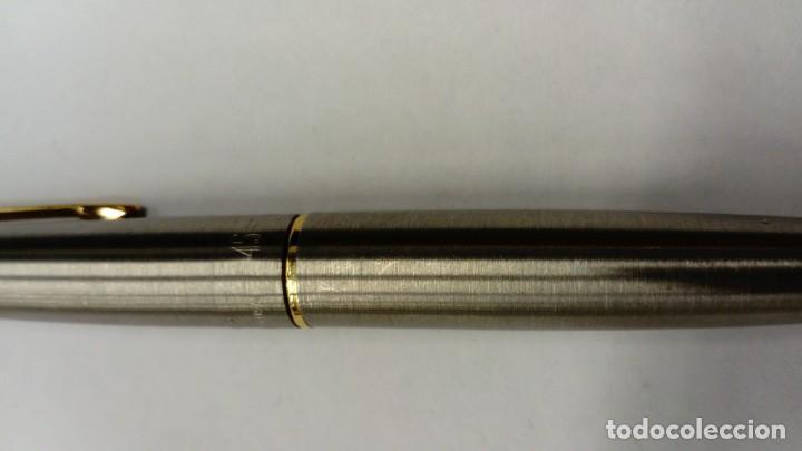 Plumas estilográficas antiguas: Pluma estilográfica Parker 45 Acero y Oro - Foto 3 - 146896766