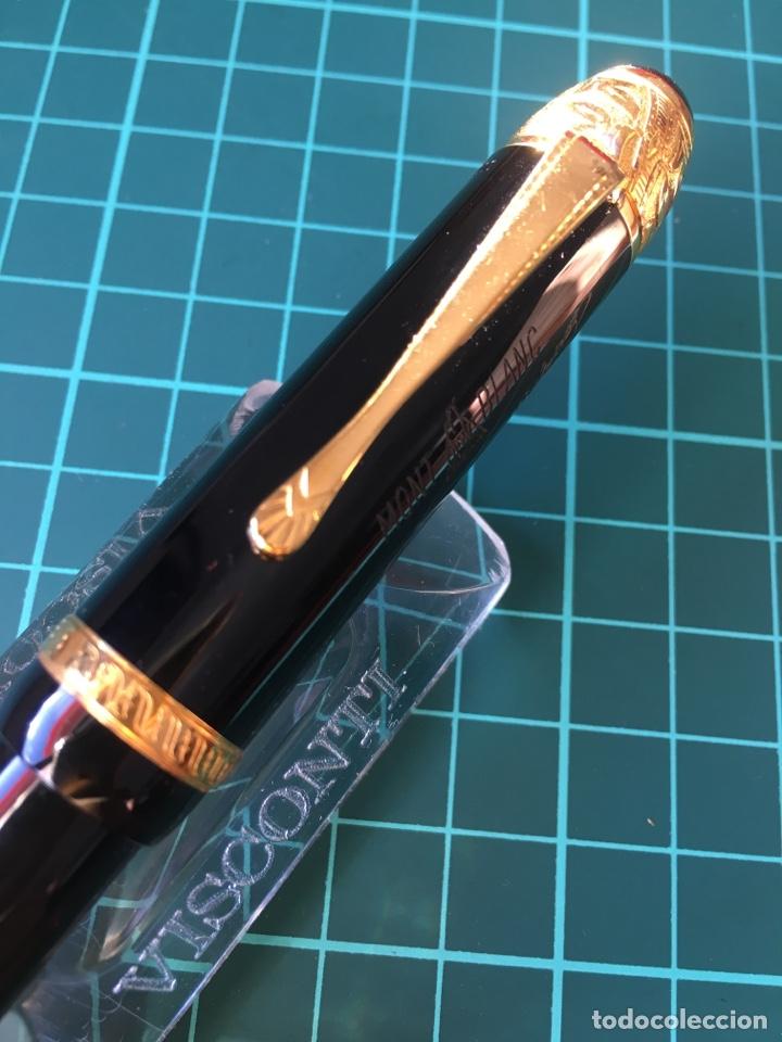 Plumas estilográficas antiguas: Pluma montblanc edición limitada 1995 Voltaire. . - Foto 2 - 147712786