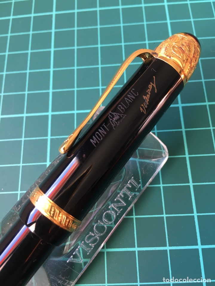 Plumas estilográficas antiguas: Pluma montblanc edición limitada 1995 Voltaire. . - Foto 3 - 147712786