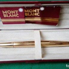 Plumas estilográficas antiguas: MONTBLANC MEISTERSTUCK Nº 82 GOLDPLATED. W.GERMANY 1960.. Lote 148661070