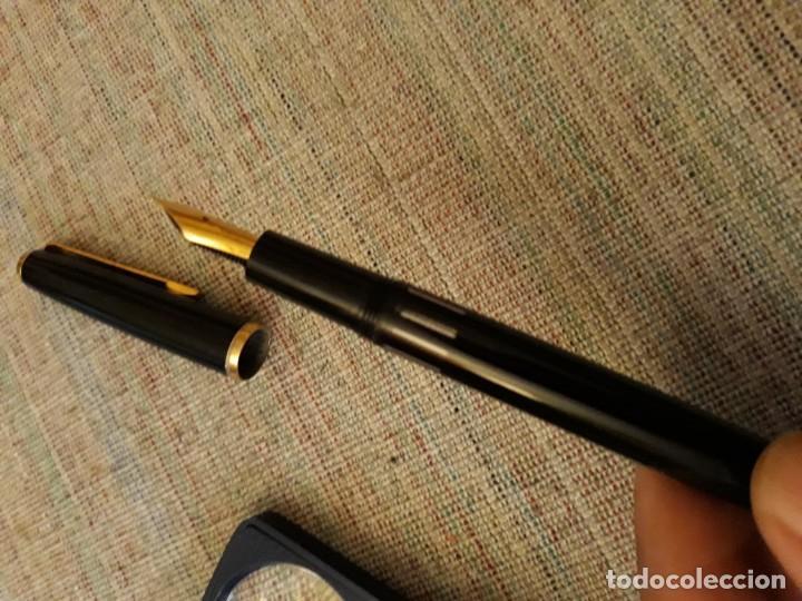 Plumas estilográficas antiguas: pluma estilografica pelikan germany lacado negro,ver descripcion y fotos - Foto 12 - 148782834