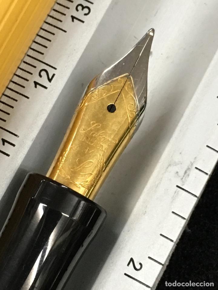 Plumas estilográficas antiguas: Pluma Laban amarillo el tamaño como parker duofold centennial - Foto 6 - 150555065