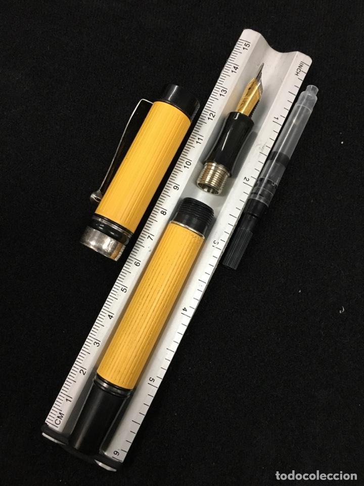 Plumas estilográficas antiguas: Pluma Laban amarillo el tamaño como parker duofold centennial - Foto 8 - 150555065