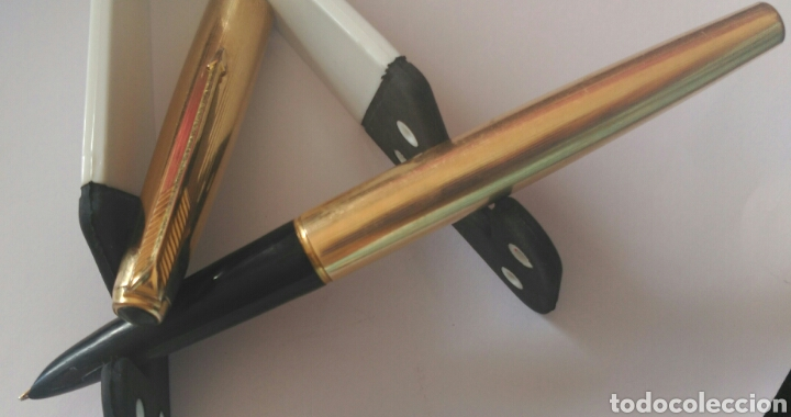 Plumas estilográficas antiguas: PLUMA PARKER 61. ORO 12 K. MADE IN USA - Foto 5 - 91338045