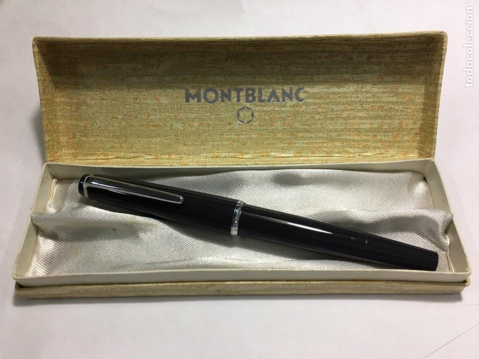PLUMA MONTBLANC N30 COLOR GRIS EN SU CAJA ANTIGUA MUY RARA Y COMO NUEVA (Fountain Pens, Ballpoint Pens and Pen Nibs - Fountain Pens)