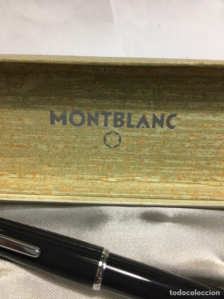 Old Fountain Pens: Pluma Montblanc n30 color gris en su caja antigua muy rara y como nueva - Foto 2 - 150830701