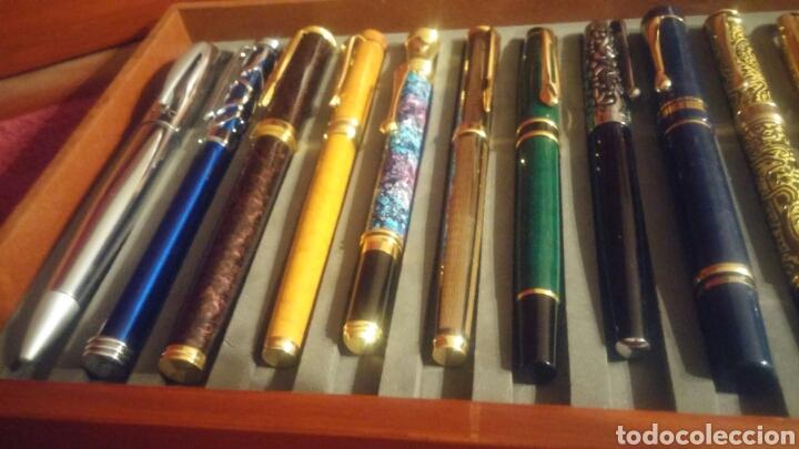 Old Fountain Pens: MUEBLE EXPOSITOR DE PLUMAS CON 27 PLUMAS DE COLECCION - Foto 9 - 150839580