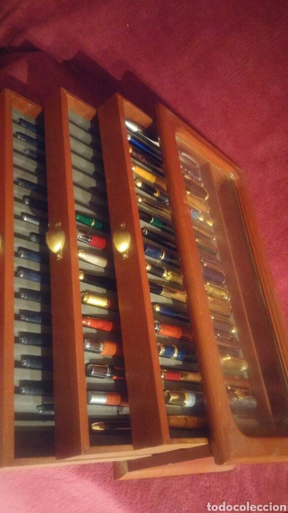 Old Fountain Pens: MUEBLE EXPOSITOR DE PLUMAS CON 27 PLUMAS DE COLECCION - Foto 11 - 150839580