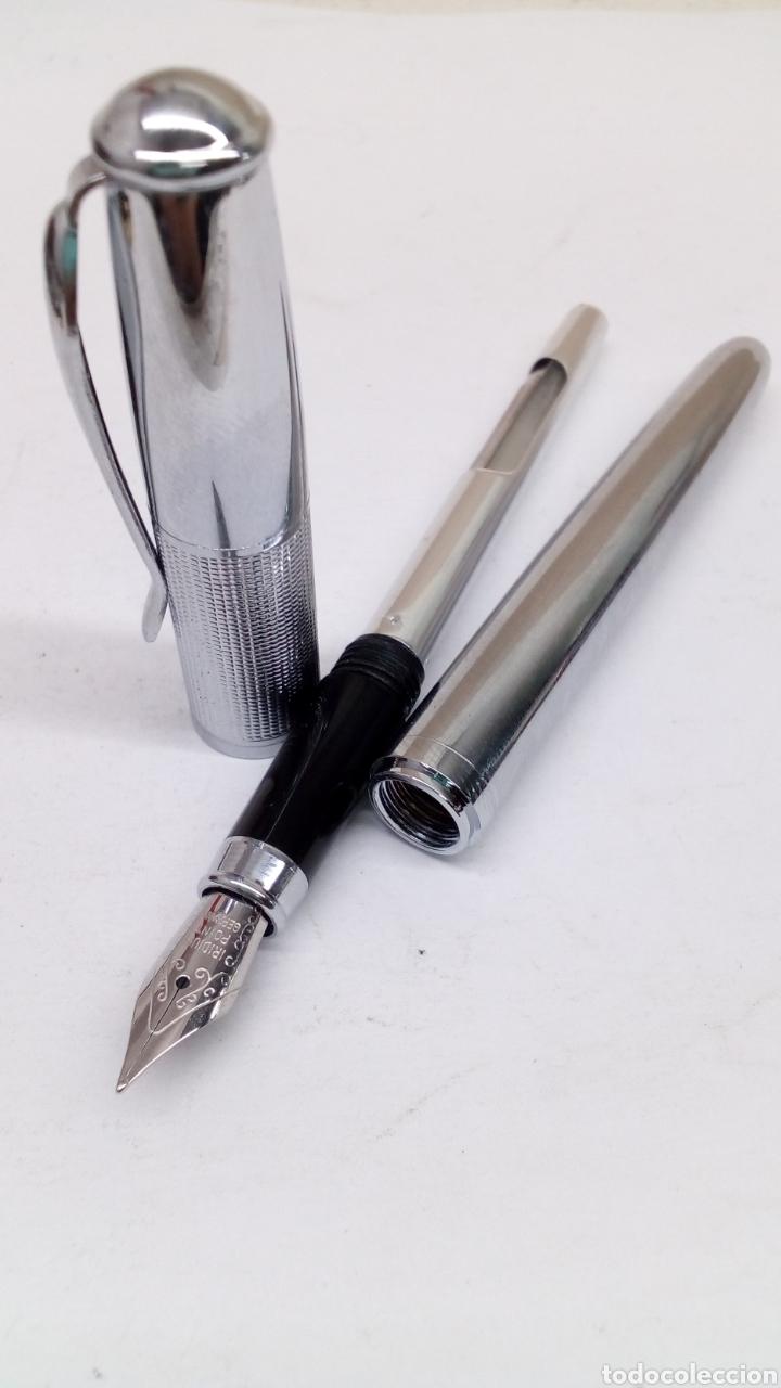 Plumas estilográficas antiguas: Pluma cuepo metalico - Foto 3 - 150904476