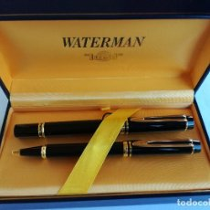 Plumas estilográficas antiguas: PLUMA ESTILOGRAFICA Y BOLIGRAFO - WATERMAN IDEAL PARIS MADE IN FRANCE J.C.E. - PLUMIN 18 K 750. Lote 151310462