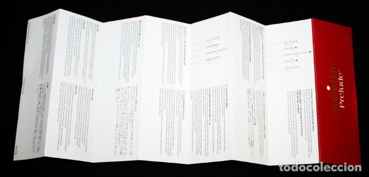 Plumas estilográficas antiguas: CONJUNTO DE PLUMA Y BOLIGRAFO-SHEAFFER PRELUDE- CHAPADOS EN ORO 23K.CON ESTUCHE-SIN USO. - Foto 6 - 152228918