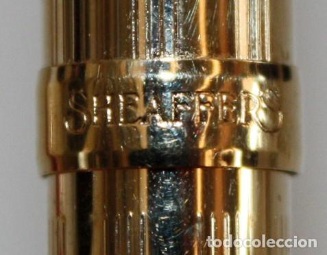 Plumas estilográficas antiguas: CONJUNTO DE PLUMA Y BOLIGRAFO-SHEAFFER PRELUDE- CHAPADOS EN ORO 23K.CON ESTUCHE-SIN USO. - Foto 9 - 152228918