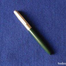Plumas estilográficas antiguas: ANTIGUA PLUMA ESTILOGRAFICA INOXCROM 41 DOBLE ANILLO - COLOR VERDE . Lote 152350118