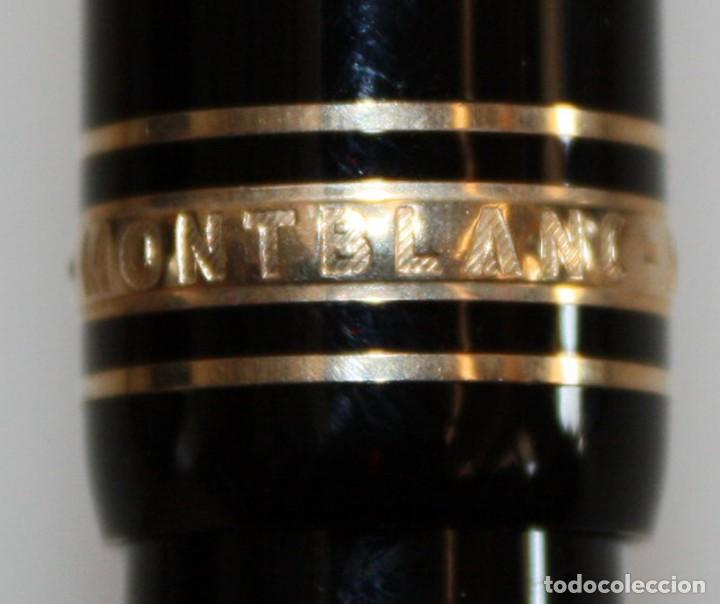 Plumas estilográficas antiguas: PLUMA MONTBLANC MEISTERSTUCK-4810-PLUMIN 14K-585.CON ESTUCHE. - Foto 7 - 152490062