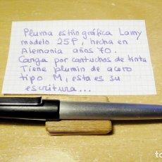 Plumas estilográficas antiguas: PLUMA ESTILOGRAFICA LAMY, MODELO 25P, HECHA EN ALEMANIA AÑOS 70. Lote 152916706