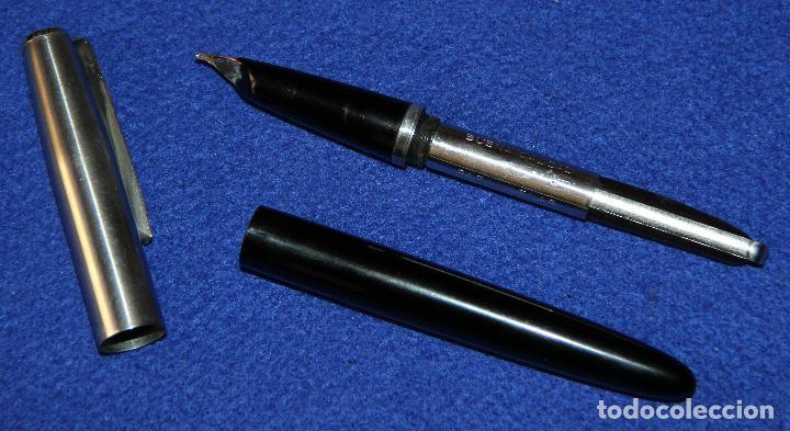 Plumas estilográficas antiguas: ANTIGUA PLUMA ESTILOGRAFICA INOXCROM 66 ORO - Foto 6 - 154190342