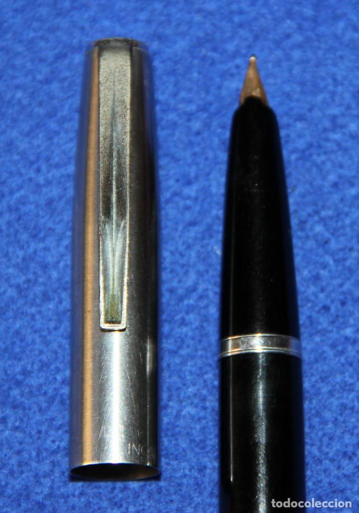 Plumas estilográficas antiguas: ANTIGUA PLUMA ESTILOGRAFICA INOXCROM 66 ORO - Foto 8 - 154190342