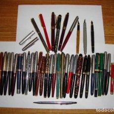 Plumas estilográficas antiguas: INTERESANTE LOTE DE 45 PLUMAS COLECCION VER FOTOS Y LEER. Lote 154419438
