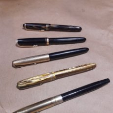 Plumas estilográficas antiguas: LOTE 5 PLUMAS MONTBLANC PARKER WATERMANS SHEAFFER. Lote 155861701