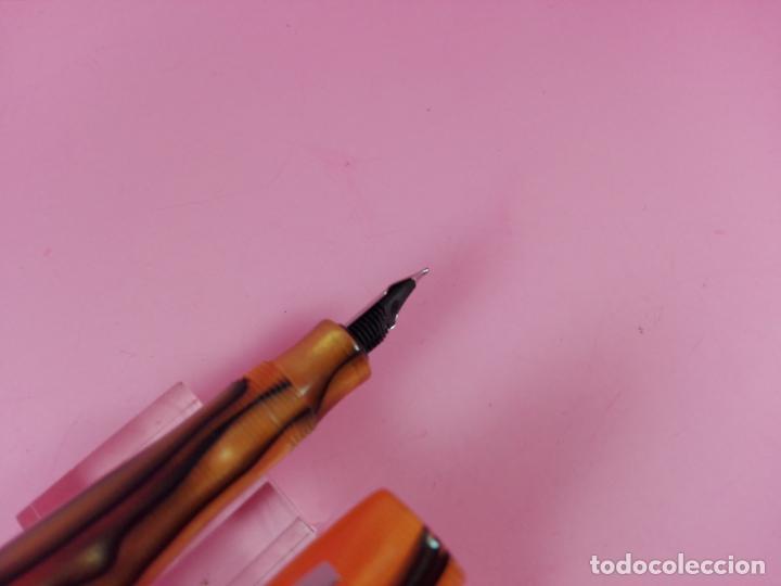 Plumas estilográficas antiguas: N4972-PLUMA ESTILOGRÁFICA-DISEÑO:DIONISIO LASUÉN-ACRÍLICOS AMARILLOS+AGUAS-NUEVA-CALIDAD - Foto 10 - 156668282