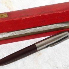 Plumas estilográficas antiguas: PLUMA INOXCROM EN CAJA. Lote 157130850