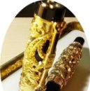 Plumas estilográficas antiguas: PLUMA DE COLECCION METALICA.. Lote 157217634