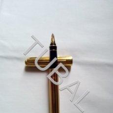Plumas estilográficas antiguas: TUBAL BOLIGRAFO ROLLER PARKER SONNET FRANCE ESCRIBIENDO ORO Y LACA. Lote 159666270