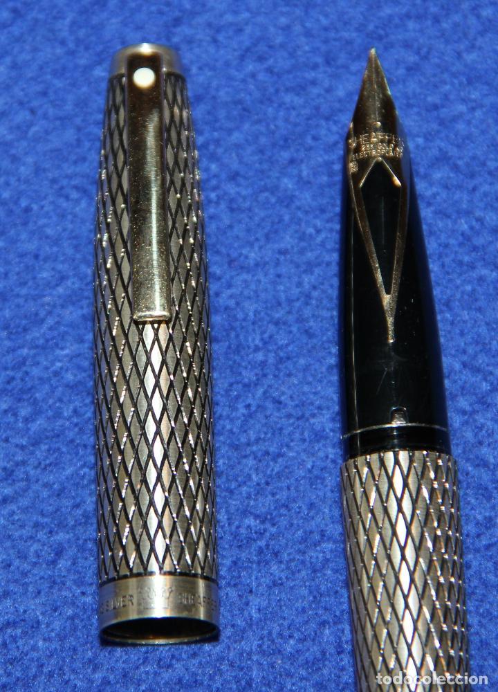Plumas estilográficas antiguas: PLUMA ESTILOGRAFICA SHEAFFER IMPERIAL STERLING SILVER - PLATA MACIZA - NUEVA - Foto 6 - 159722938
