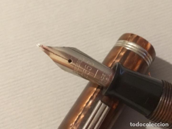 Plumas estilográficas antiguas: Antigua pluma estilografica sterbrook carga por palanca - Foto 7 - 160059790