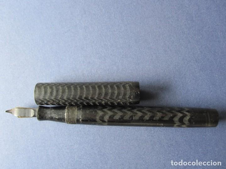 Plumas estilográficas antiguas: ANTIGUA PLUMA WARRANTED ORO 14 KT - Foto 4 - 162029686