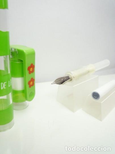 INOXCROM PLUMA ESTILOGRAFICA A CARTUCHOS MOD. UNO COLECCION AGATHA RUIZ DE LA PRADA BANDAS VERDES (Plumas Estilográficas, Bolígrafos y Plumillas - Plumas)