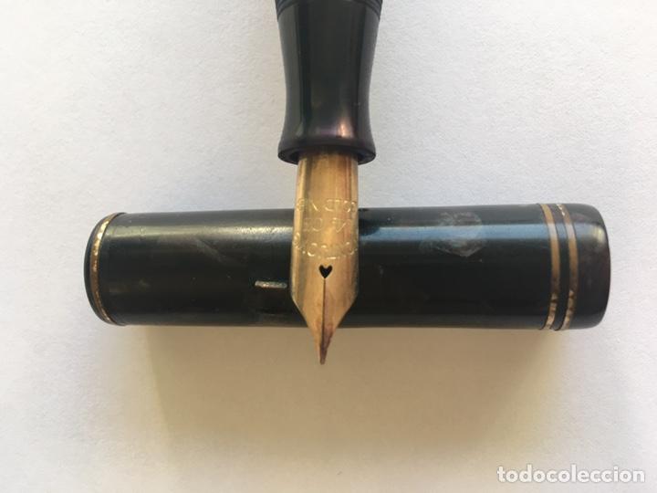 Plumas estilográficas antiguas: Antigua pluma The montjoys pen Baquelita - Foto 2 - 164702654