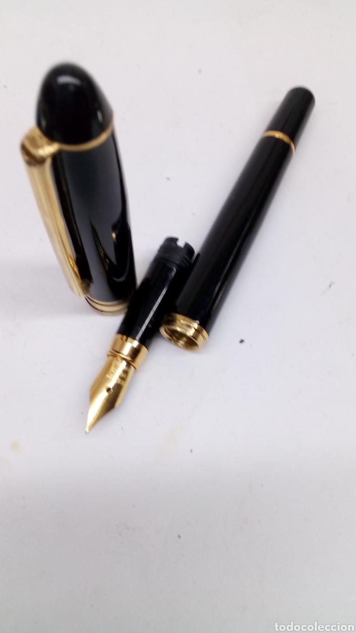 Plumas estilográficas antiguas: Pluma lacado negro - Foto 2 - 171128440