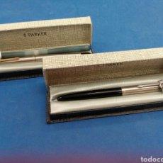 Plumas estilográficas antiguas: LOTE DE 2 PLUMAS ESTILOGRÁFICAS DE PARKER MODELO 45 Y 21 , AÑOS 1960-70. Lote 166546642