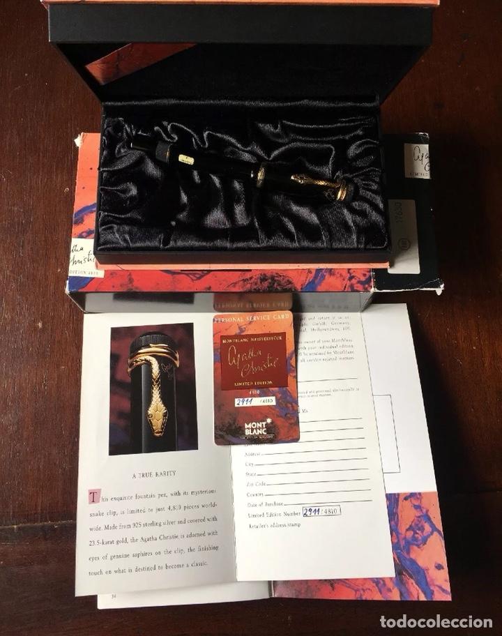 Plumas estilográficas antiguas: Montblanc 1993 Agatha cristie 4810 edición limitada pluma estilográfica F - Foto 2 - 167547670