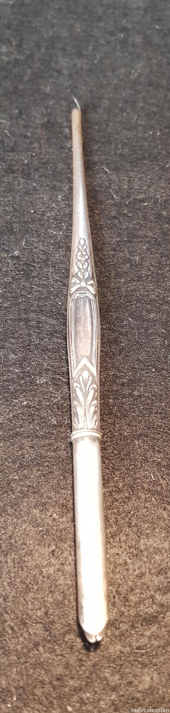 Plumas estilográficas antiguas: Plumin plata - Foto 6 - 167601325
