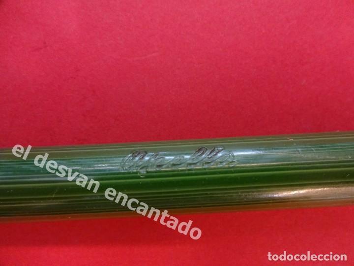 Plumas estilográficas antiguas: Antigua pluma GOLD STARRY a restaurar de color verde - Foto 3 - 168940052