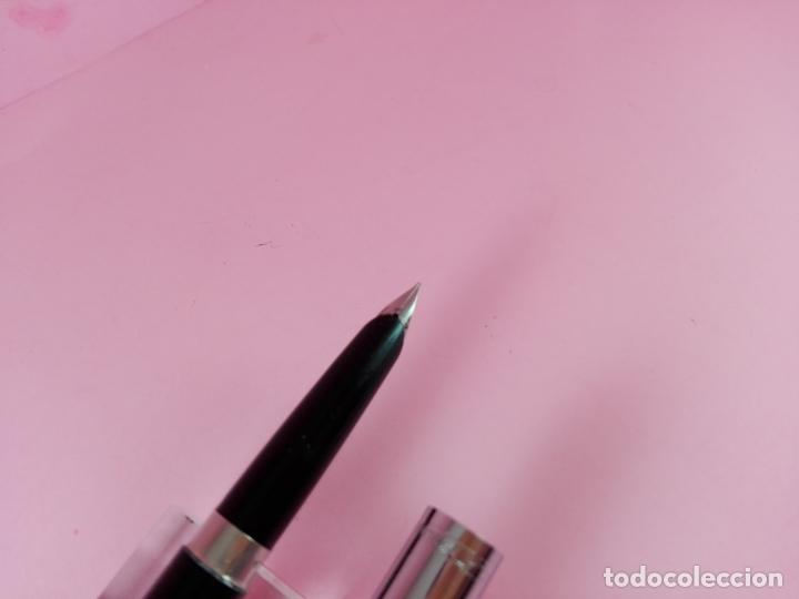 Plumas estilográficas antiguas: PLUMA ESTILOGRAFICA-UK-PLATIGNUM NEGRA+CROMO-BUEN ESTADO-VER FOTOS. - Foto 4 - 61906188